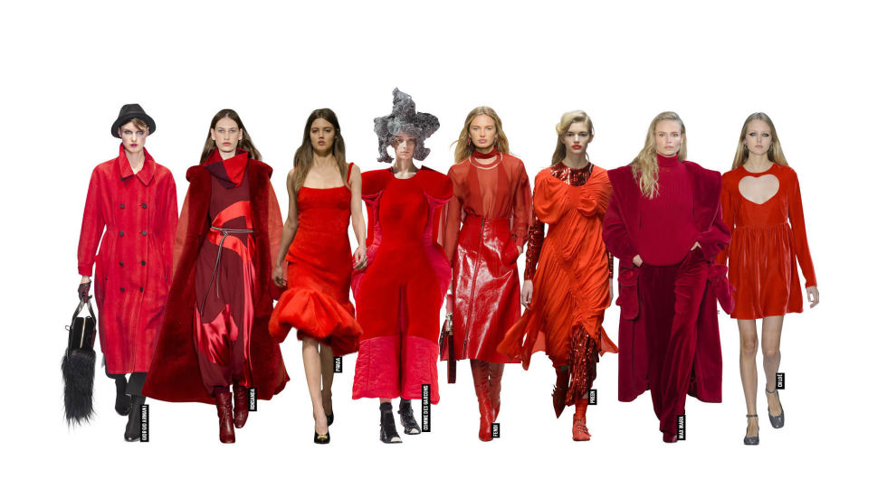 red to toe trend catwalk aw17